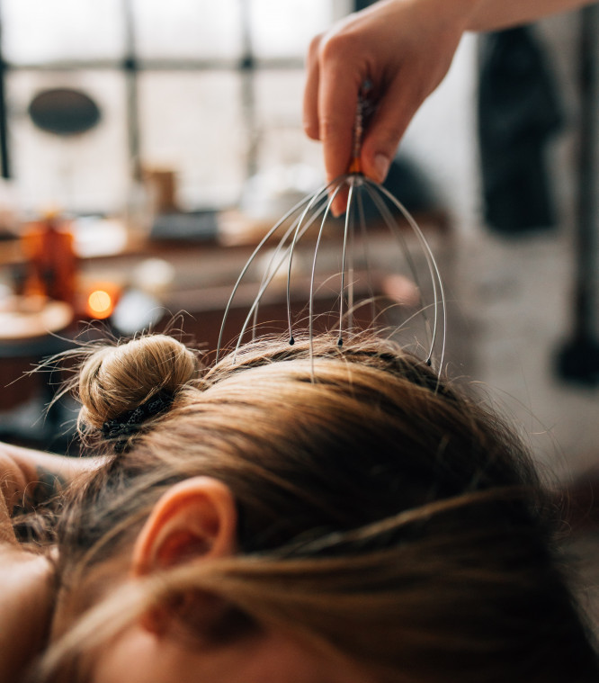 Scalp Massage Boosts Hair Growth